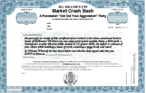 Recession Halloween Invitation