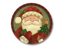 Cozy Santa Plate