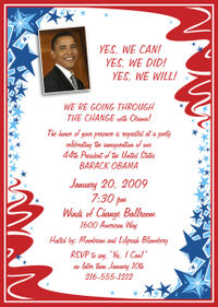 Obama Party Invitations