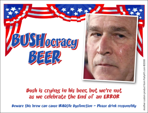 Bye Bye Bush Beer Label