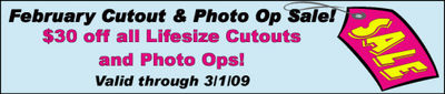 Lifesized Cutouts and Photo-ops Sale