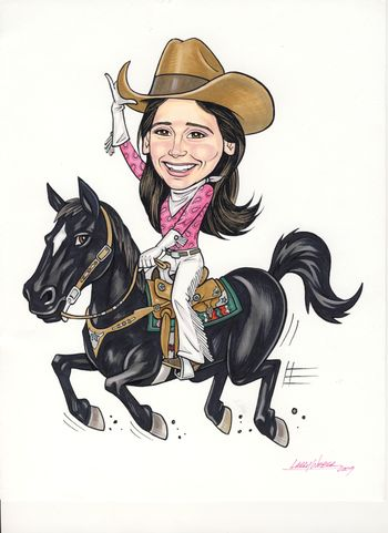 Cowgirl Caricature