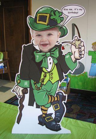 Justin's leprechaun cutout