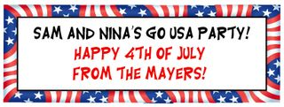 Personalized Fourth of July Banner