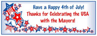 Personalized 4th of July Banner