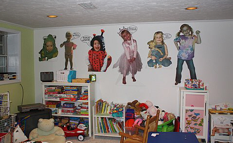 Personalized Playroom wall decorations