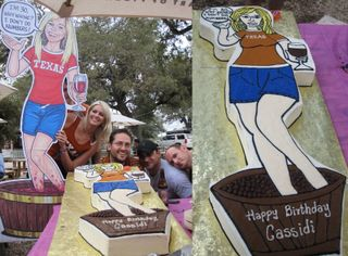 Cass with cutout and Cake!