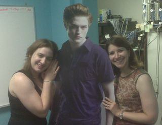 Edward celebrity cutout in action