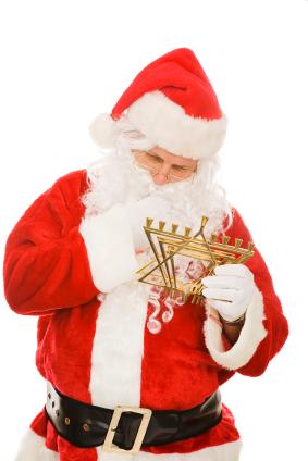 Santa and menorah