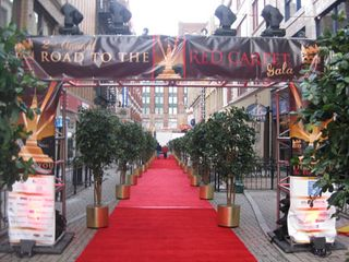 Road to the red carpet, red carpet
