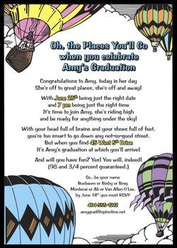 Dr Seuss style graduation invitation