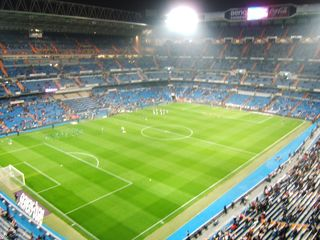 Awesome Real Madrid Stadium. I think South Africa is similar to this. Only louder