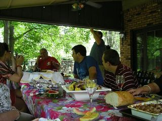 Summer Party Picture, lots of food, which was almost all eaten