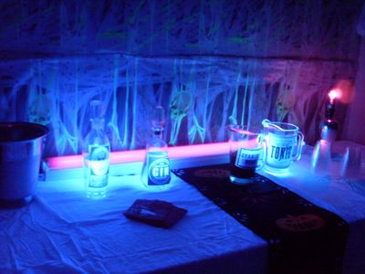 Admirable Halloween Party Ideas Black Light Bar Daily Party Dish Home Interior And Landscaping Ymoonbapapsignezvosmurscom