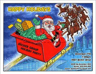 Corporate Santa Invite
