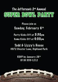Unique 2011 Super Bowl Invitation