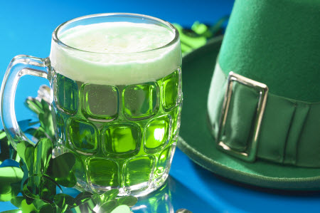 Green Beer and leprechaun hats are always great for St. Pats!