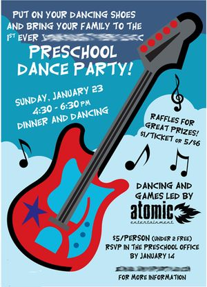 Kids School Dance invite