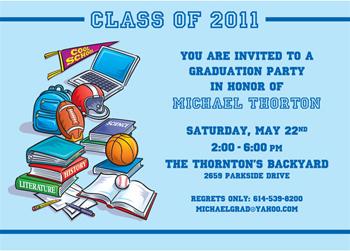 2011 Sports graduation invitation