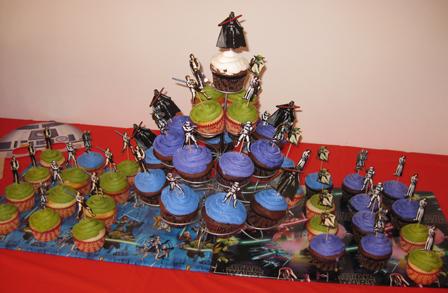 Cake Happy 5th! Star Wars theme cupcakes