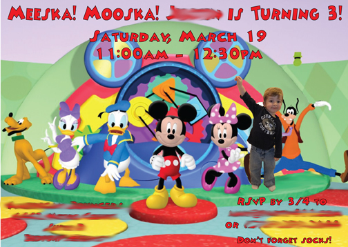 Sams Mom Mickey Mouse Theme Party Daily Party Dish – Mickey Mouse Clubhouse Birthday Invites