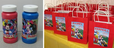 Homemade Mickey Mouse Party favors