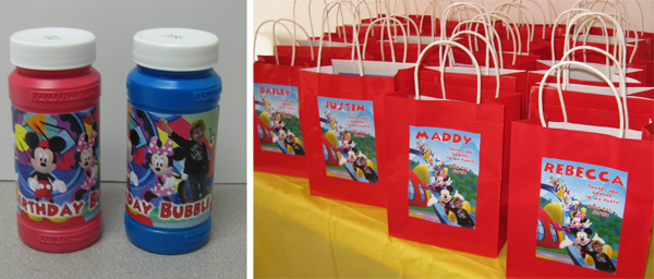 Homemade Mickey Mouse Party favors & Samu0027s Mom: Mickey Mouse Theme Party - Daily Party Dish