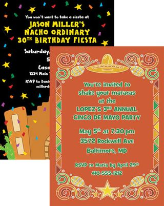 Fiesta Party Invitation Wording