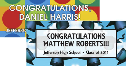 Personalized Graduation banner Choices