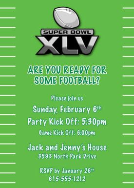 Super Bowl XLV invitation