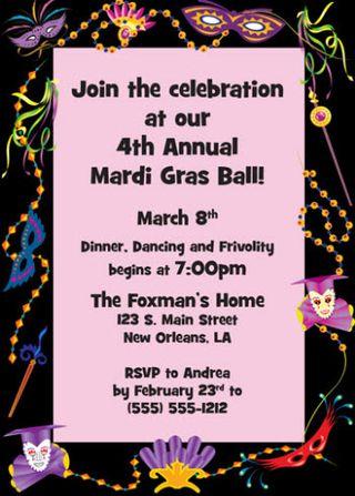 Mardi Gras Invite