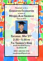 2011 graduation invitation graduation open house party invitation with a photo - Graduation Open House Invitation Wording
