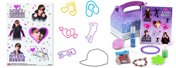 Justin Bieber Party Favors