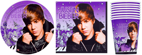 Justin Bieber Paper Products great for a party