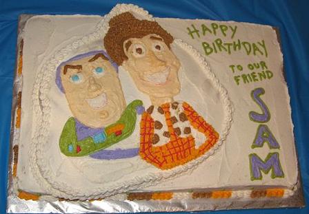 Happy 4th Birthday – a Toy Story theme birthday cake