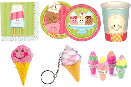 Ice cream party paper goods
