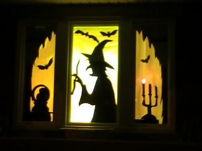 DIY Halloween Window Silhouettes - Daily Party Dish