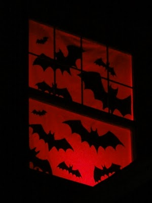 Bats Window Silhouette
