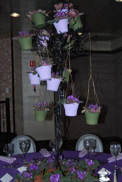 Violet floral arrangement
