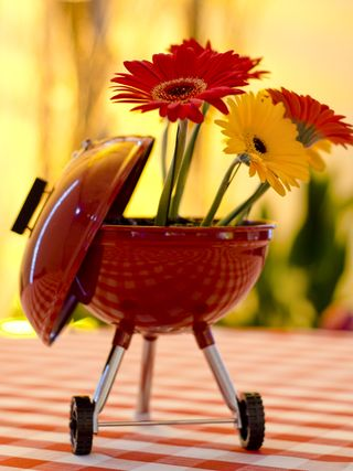 Grill theme party centerpiece