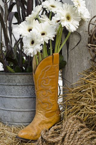 Western party decorations. It was a country-western backyard BBQ soiree for ...