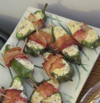 Party Appetizer Ideas: Cheese Stuffed, Bacon Wrapped Jalapenos