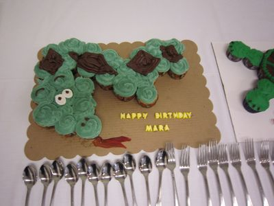 Snake Jungle theme cake