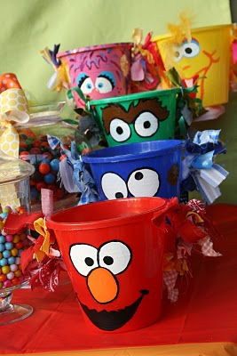 Sesame Street Birthday Party Favor Pails1