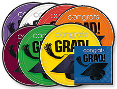 Graduation School Colors Paper Goods