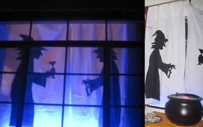 Halloween Window Silhouettes