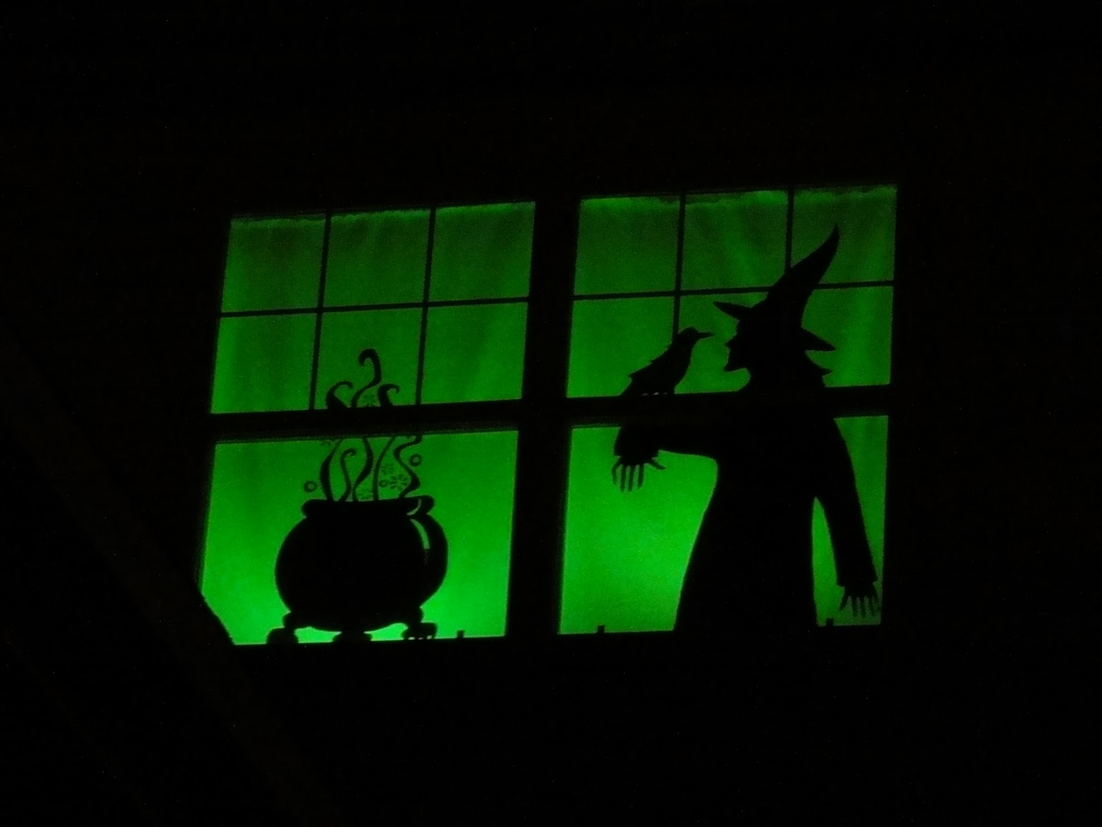 Halloween window decorations - Witch Silhouette