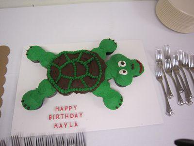 Turtle Theme Cupcake Cake