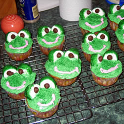 Frog cupcakes for Leap Day Party