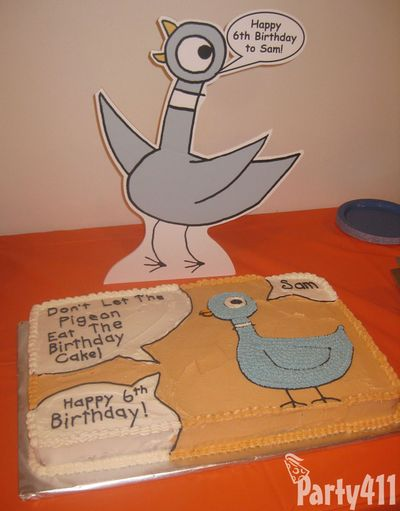 Don't Let the Pigeon go to the Birthday Party Cake